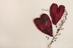 Background with tissue heartshapes. Stock Photos