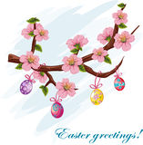 The background to the day of Easter royalty free illustration