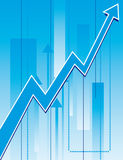 The background to the growth charts Stock Images