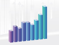 The background to the growth charts Royalty Free Stock Images