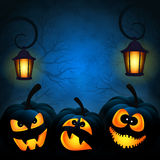 Background to the Halloween with pumpkins Royalty Free Stock Images