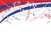 Background to Independence Day. Stock Photography