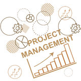 Background to the project management, business planning process. Abstraction. Vector Royalty Free Stock Photography