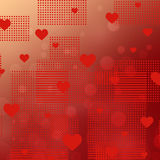 Background to the Valentine's day Stock Images