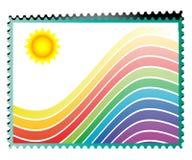 Rainbow stamp Stock Image