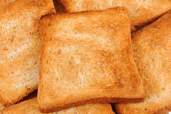 Background from toast bread Stock Photo