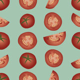 Background tomato. Natural food seamless pattern Royalty Free Stock Images