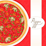 Background with tomato pizza Royalty Free Stock Image