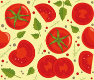 Background with tomatoes Royalty Free Stock Photo