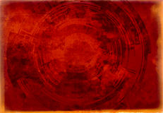 Background toned technocircle. Old antique retro Royalty Free Stock Image