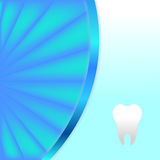 Background with tooth. And blue rays Royalty Free Stock Photos