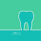 Background with tooth outline. Stock Photography