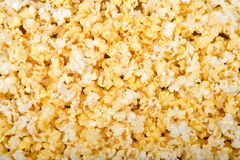 Background top view of popcorn stock image