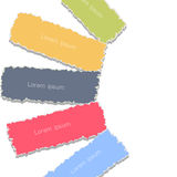 Background with torn paper banners Stock Images