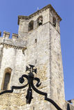 Background tower with a bell of the monastery Templar Royalty Free Stock Photography