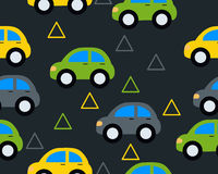 Background with toy cars. Vector seamless pattern Stock Photo