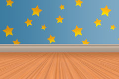 Background Toy Story. Floor wood and stars wallpaper Stock Photo