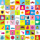 Background with toys for kids Royalty Free Stock Photography
