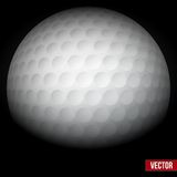 Background of traditional golf ball. Vector. Stock Images