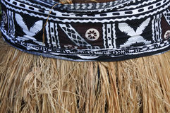 Background of traditional Pacific Island straw skirt and tapa cl Royalty Free Stock Photography
