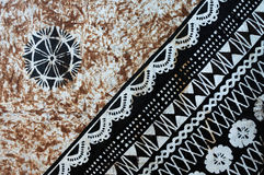 Background of traditional Pacific Island tapa cloth Stock Image