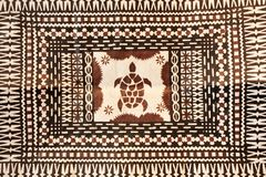 Taditional Pacific Islands tapa cloth background. Background of traditional Pacific Islands tapa cloth, a barkcloth made primarily in Tonga, Samoa and Fiji Royalty Free Stock Images