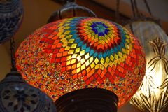 Background of traditional turkish lamp Stock Images