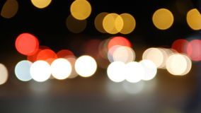 Background of traffic at night stock footage