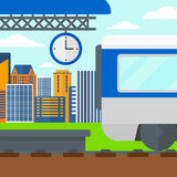 Background of train leaving the station. Royalty Free Stock Photography