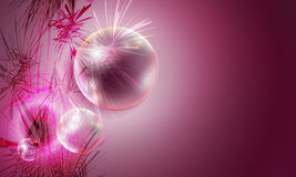 Background and transparent balls Royalty Free Stock Photos