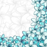 Background of transparent blend flowers design handmade products Royalty Free Stock Images