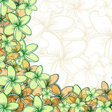 Background of transparent blend flowers design handmade products Stock Image