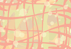 Background with transparent circles and net Stock Photography
