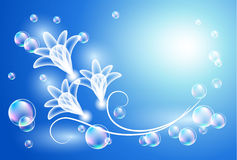 Background with transparent flowers Stock Images