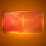 Background with a transparent glass banner Royalty Free Stock Photography