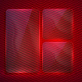 Background with transparent glass banners Stock Photos