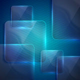 Background with transparent glass squares Royalty Free Stock Photos