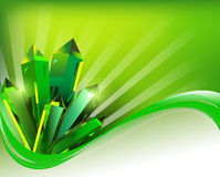 Background transparent green mineral crystals in t Royalty Free Stock Image