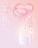 Background with transparent hearts Stock Photography