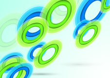 Background with transparent rings Royalty Free Stock Image