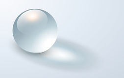 Background with transparent sphere Royalty Free Stock Images