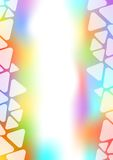 Background with transparent triangle border on pastel area Royalty Free Stock Images