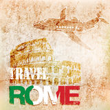 Background travel to Rome.vector illustration Royalty Free Stock Photo
