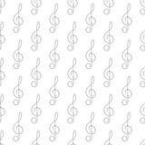 Background with treble clef Royalty Free Stock Images
