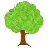 Background with tree Royalty Free Stock Images