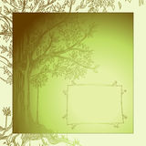 Background with tree Royalty Free Stock Photography