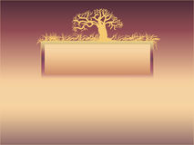Background with a tree Stock Images