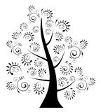 Background. Tree floral design- creative design elements Royalty Free Stock Photo