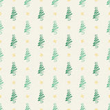 Background Trees On Cream Royalty Free Stock Photo