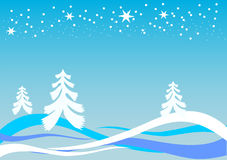 Background with trees and snow Royalty Free Stock Photography
